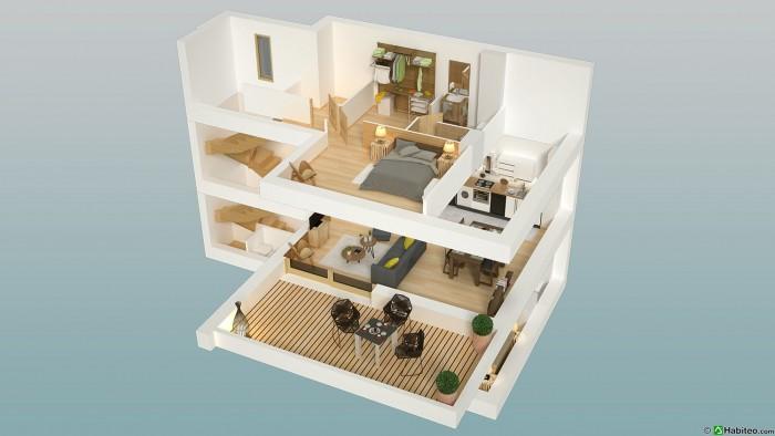 chalet plans 3D combloux
