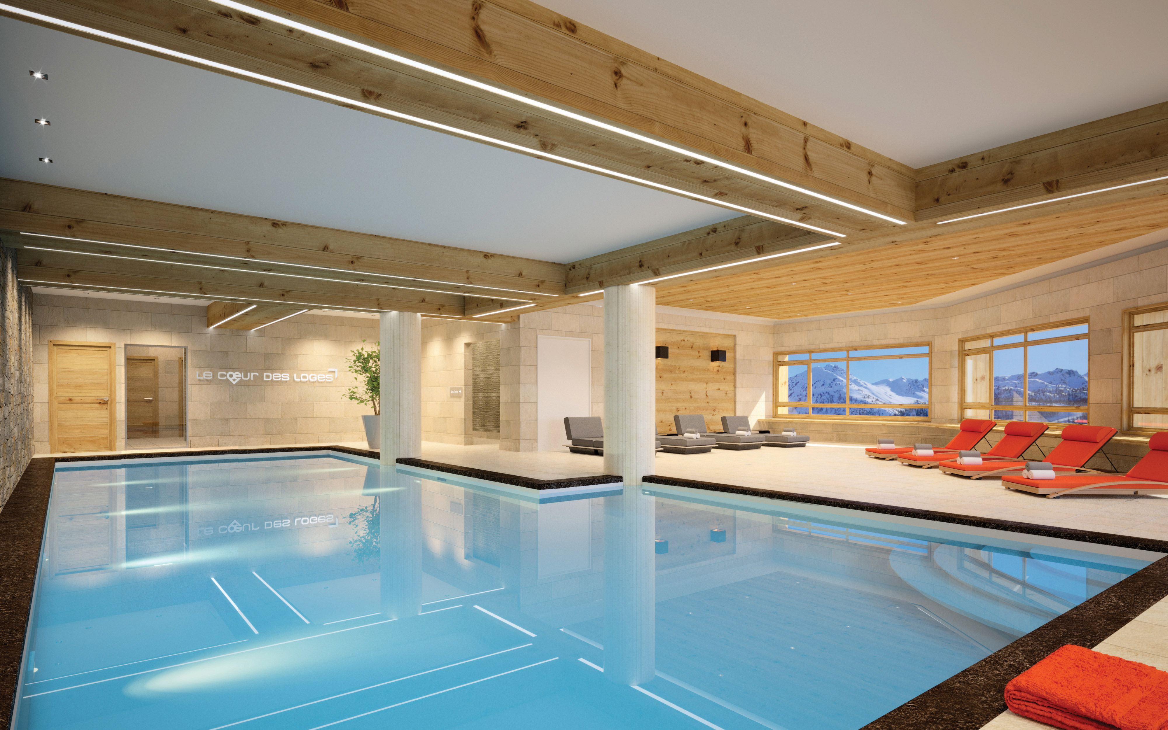 les ménuires piscine ski