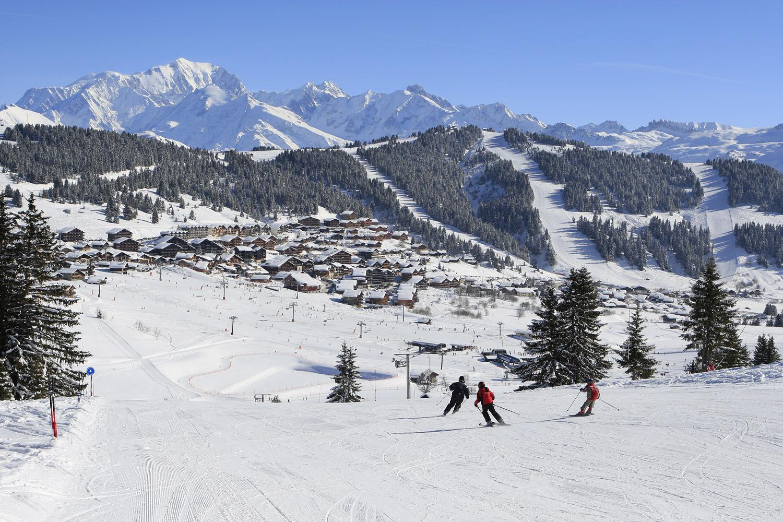 saisies skis aux pieds