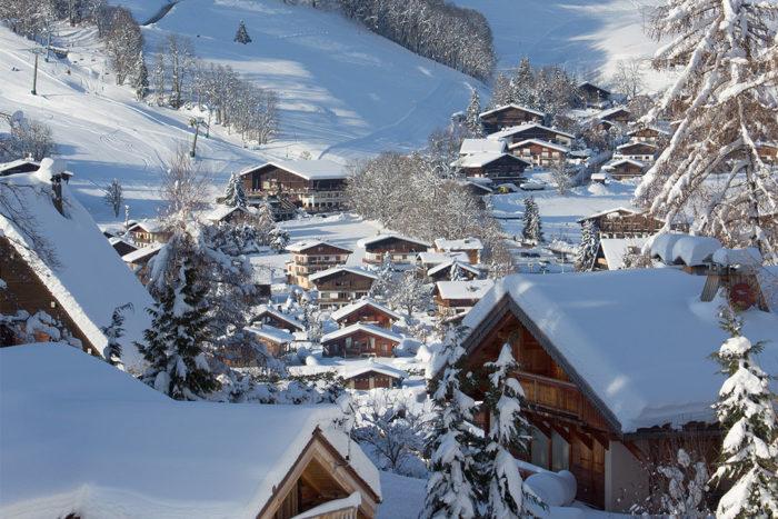 Station de ski : Megève sous la neige