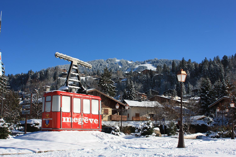 Station de Megève sous la neige